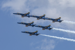 Detroit Michigan Blue Angels Flyover 1