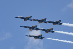 Detroit Michigan Blue Angels Flyover 3